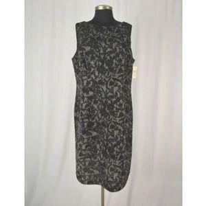 Coldwater Creek W20 Sleeveless Black Gray Dress
